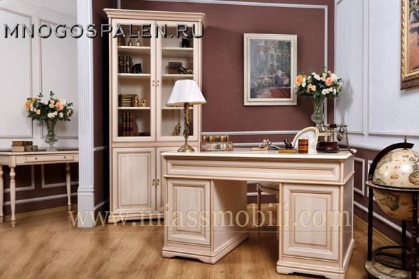 Кабинет Joconda крем MiassMobili купить в салоне-студии мебели Барселона mnogospalen.ru много спален мебель Италии классические современные