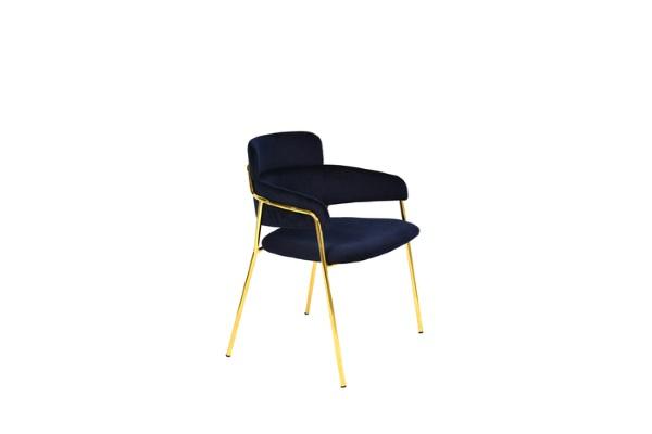 Стул Полин темно-синий купить в салоне-студии мебели Барселона mnogospalen.ru много спален мебель Италии классические современные