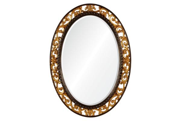 Rosalie А88002-2 античное золото в коричневом обрамлении купить в салоне-студии мебели Барселона mnogospalen.ru много спален мебель Италии классические современные