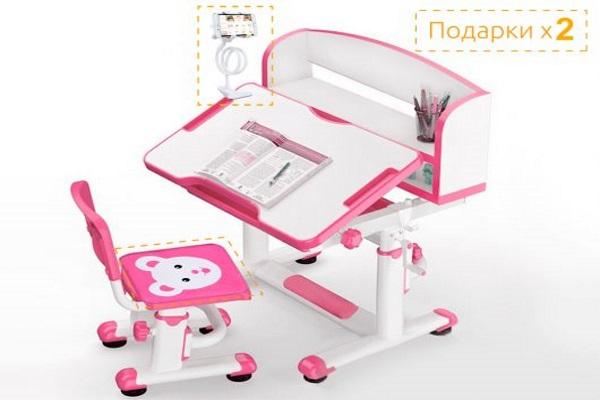Комплект парта и стульчик Mealux BD-10 купить в салоне-студии мебели Барселона mnogospalen.ru много спален мебель Италии классические современные