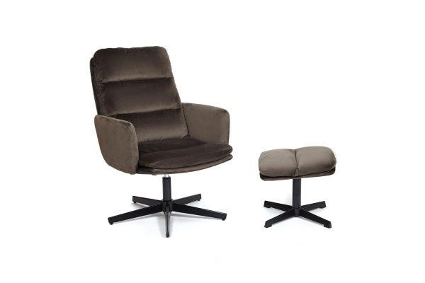Кресло «Alfred» с банкеткой (mod.DM7574-1) (коричневый) купить в салоне-студии мебели Барселона mnogospalen.ru много спален мебель Италии классические современные
