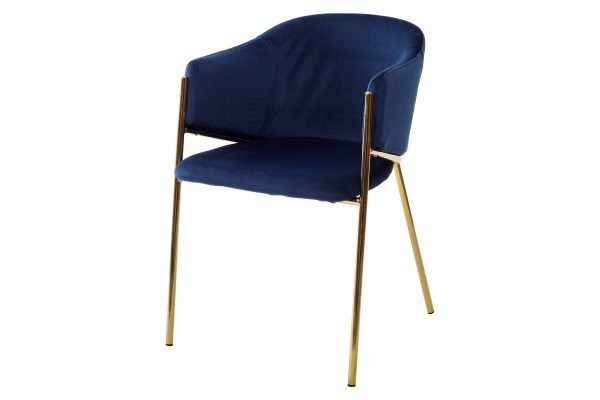 Стул DILL BLUVEL-86 NAVY BLUE, велюр М-City купить в салоне-студии мебели Барселона mnogospalen.ru много спален мебель Италии классические современные